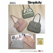 8664 Simplicity Pattern: Bags in Four Styles